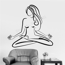 Art  Wall Sticker Yoga Decoration Removeable Poster Center Pose Decal Meditation Decor Modern Fashion Ornament LY250