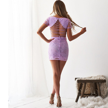 Summer new hot womens dress two-piece lace embroidered strapless backless suit sexy nightclub