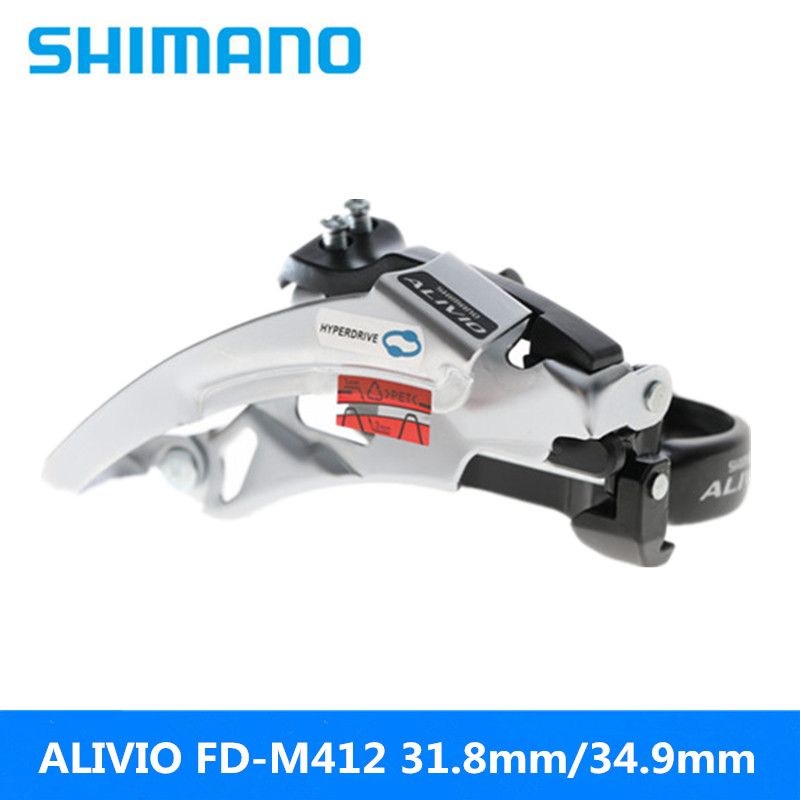 Qualified Shimano Alivio Fc-m410/fc-412 Front Mountain Bike 8s/24 Speed Front Derailleur 31.8mm/34.9mm Caliber Silver Brand New Original Cycling Bicycle Derailleur