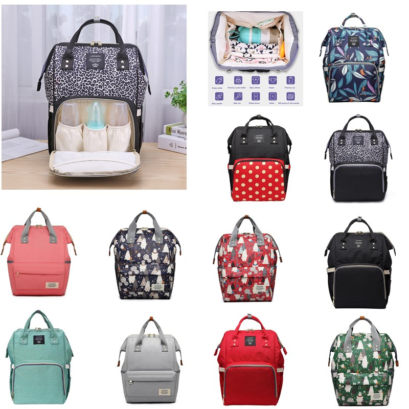 LEQUEEN  Mother Fashion BagsMummy Maternity Nappy Bag Large Capacity Fashion Nappy Bag Travel Backpack Nursing Bag For Baby Care
