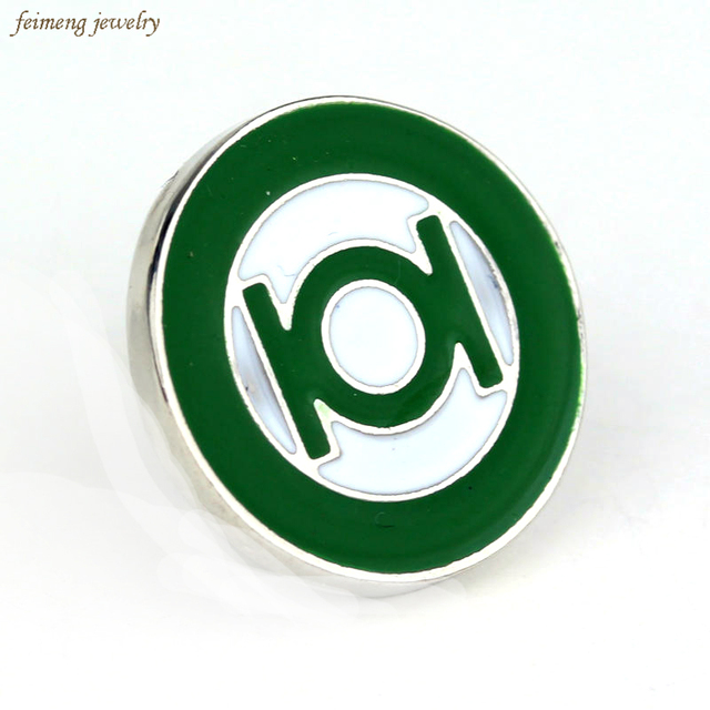 US $0 99 28% OFF|Christmas gift Green Lantern large brooches Pin Superhero  DC Comics Green enamel Lapel Pin Brooch Emblem Badge-in Brooches from