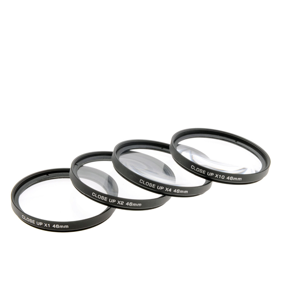 JUST NOW High-Profession Close Up Macro Lens Kit (+1 / +2 / +4 / +10) Diopter Filters Set for DSRL camera - Black (46mm)