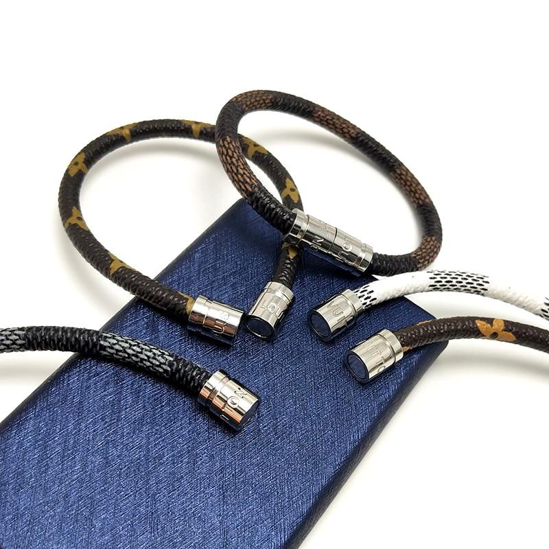 Bracelet leather bracelet Stainless steel bracelet (2)  VEROMCA Leather-based Bracelet Stainless Metal Bracelets Males Jewellery Excessive High quality Charms Bracelets jewellery Magnetic Bracelet HTB1OQAEuDtYBeNjy1Xdq6xXyVXaD