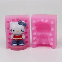 3D Cat Silicone Mold Handmade Chocolate Mold Cute Cake Decoration Factory Direct WD022