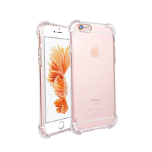 Phone Case Cover Fit For iPhone 6 6s 6Plus Plus Clear Shockproof Soft Silicone Transparent Cases