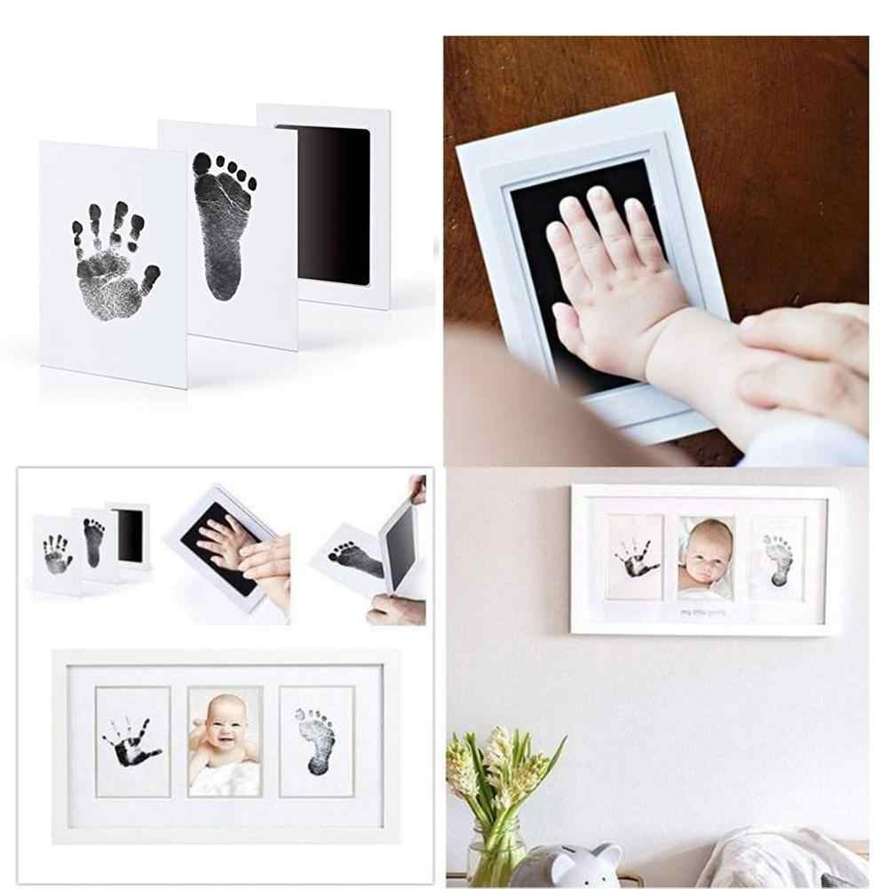 2PCS Baby Care Non-Toxic Baby Handprint Footprint Imprint Kit Baby Souvenirs Casting Newborn Footprint Ink Pad Infant Toy Gifts