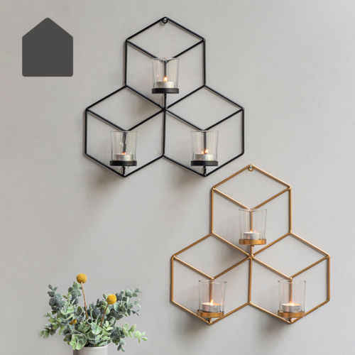 Cool Design Wall Mounted 3d Geometric Tea Light Candle