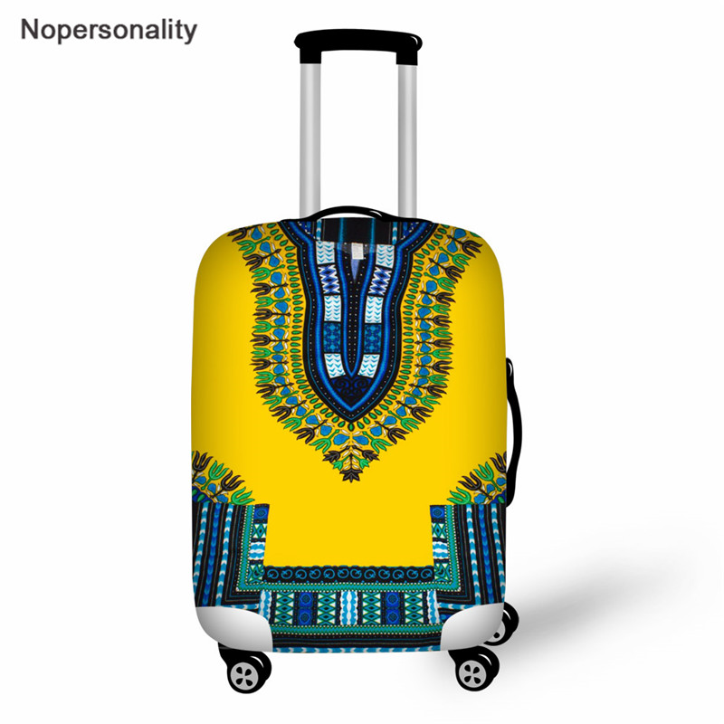 Nopersonality African Dashiki Style Trolley Case Protective Cover Elastic Thicken 18-30 Inch Travel Luggage Cover Dust Cover