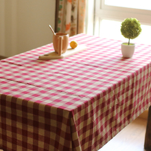 [] over the culvert American country table cloth gift table decoration cloth Tartan Plaid Cotton classic