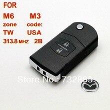 Специальное предложение! высокое качество для Mazda M6 M3 Флип Дистанционный Ключ 2 Кнопки 313.8 МГЦ (С 4D63) Оптом и В Розницу