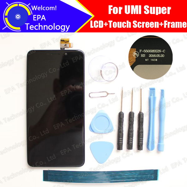 UMI Super LCD Display + Touch Screen Digitizer + Frame Assembly 100% Original New LCD + Touch Digitizer for Super +Tools