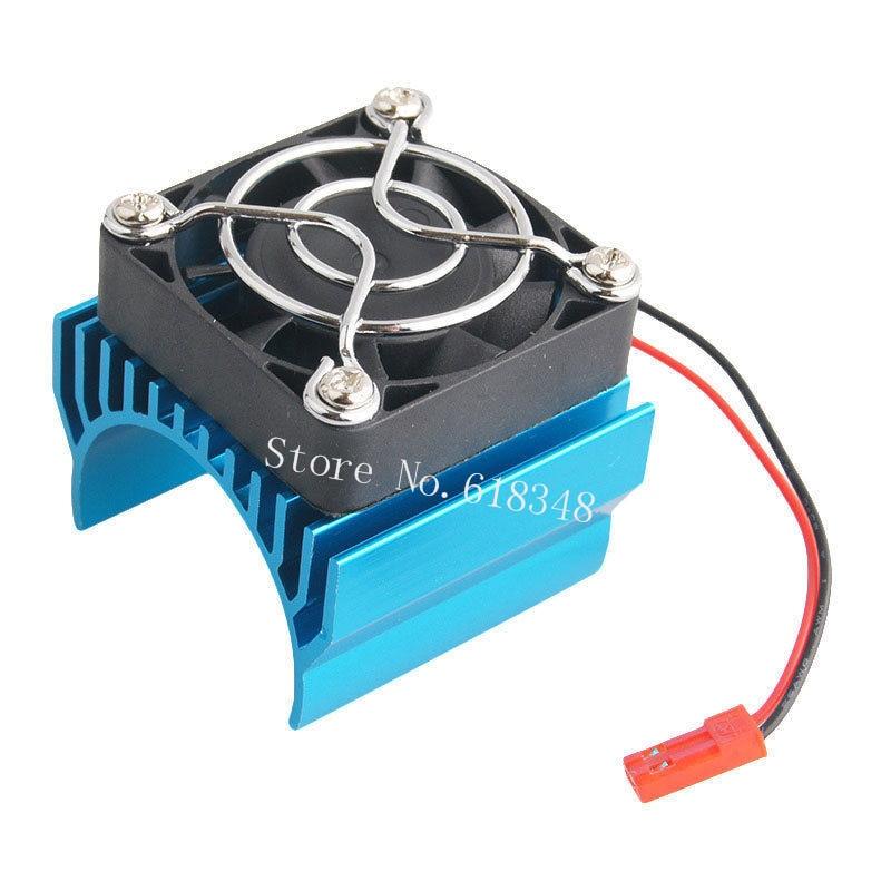 RC parts Electric 540 550 Motor Heat Sink Cover + Cooling Fan Heatsink 1/10 For HSP Himoto Redcat generic roland scan motor for sj 540 sj 740 fj 540 fj 740 sc 540 printer parts motor