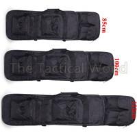 Outdoor Military 85 100 120cm Rifle Hunting Backpack Tactical Airsoft Nylon Square Carry Dual Rifle Soft Bag Gun Protection Case