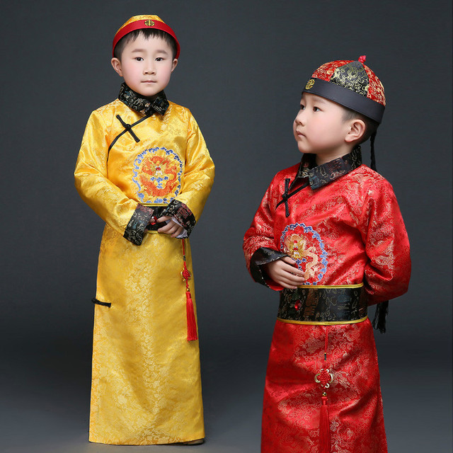 8133f8084 Chinese Ancient Costumes Male Children Costume Robes Qin Dynasty Prince Costumes  Hanfu Tang Suit Oriental Costumes