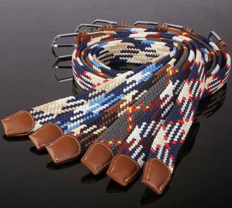 New style many color grid stretch braid,mens elastic belt, mens ladies belt,adult canvas belt