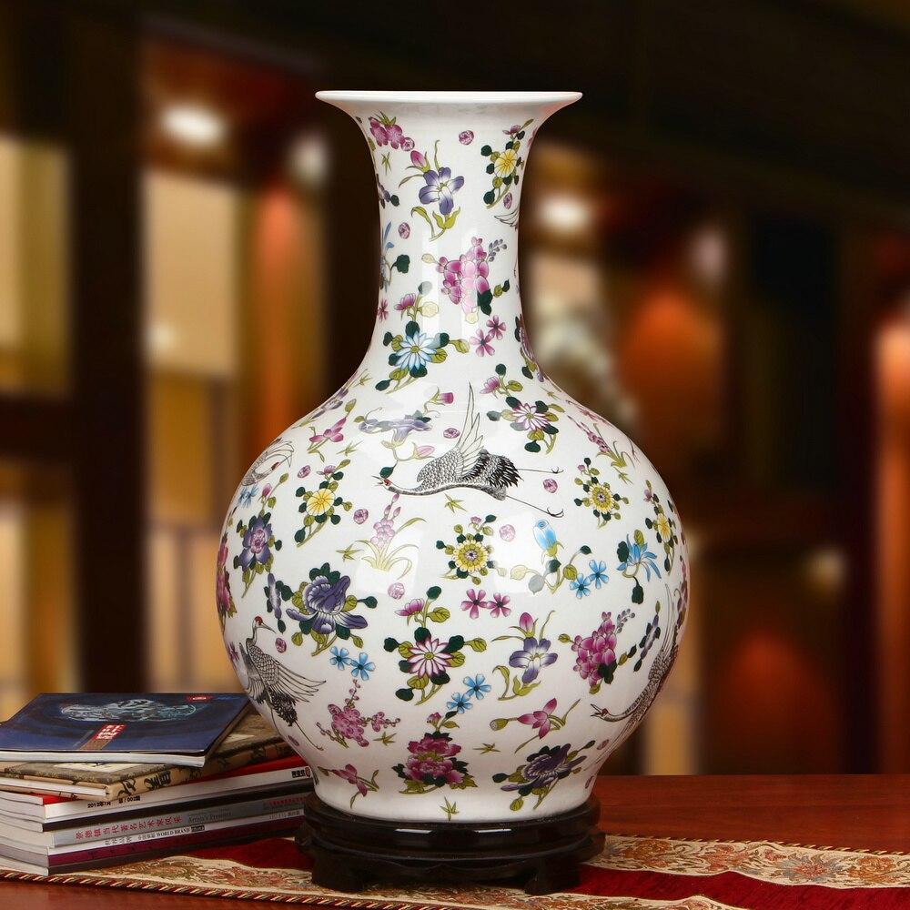 Jingdezhen Porcelain Vase Pine Crane Landing Pattern Large