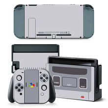 Vinyl Skin Protector Sticker Limited Machine for Nintend Switch NS Console + Controller Stand Holder Protective Film Gray