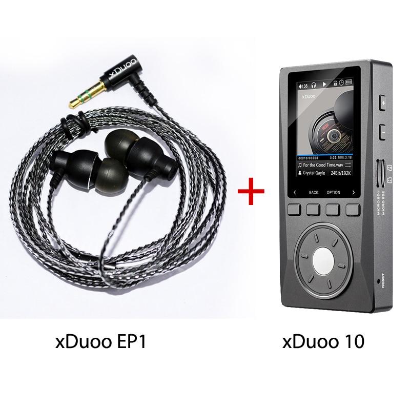 xDuoo X10 Music Mp3 Player Hifi Lossless Mp3 And xDuoo EP1 Earphone Dynamic Stereo In-ear Earphone for Music Lovers стоимость