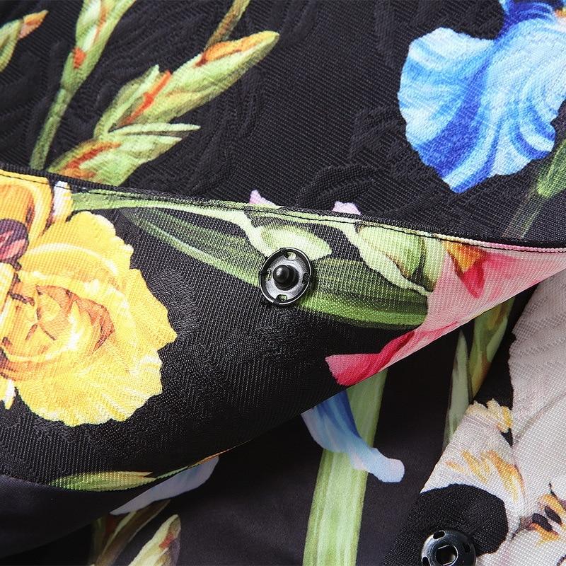 Tranchée 180913lu02 2018 Nouveau De Lâche Automne Fleur Manteau Femmes Iris wzq8w6H