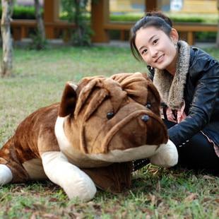 2015 Super Lifelike 70cm Bulldog Plush Dog Doll Gift Adorable Large