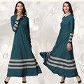 A019 Корея Белье 2017 Новый стиль Мусульманской Леди платье Розничная продажи Моды Дизайн Исламских женщин абая Большой хем Основные Аравии платье