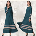 A019 Ropa De Corea 2017 Nuevo estilo Musulmán vestido de la Señora Al Por Menor venta de Diseño de Moda de las mujeres abaya Islámico Saudita Básica dobladillo Grande vestido