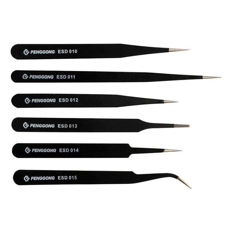 Werkzeuge KüHn 6 Teile/satz Pinzette Chemische Medizinische Elektronische Gerät Anti-säure Nicht Korrosiv Nipper Reparatur Wartung Werkzeuge