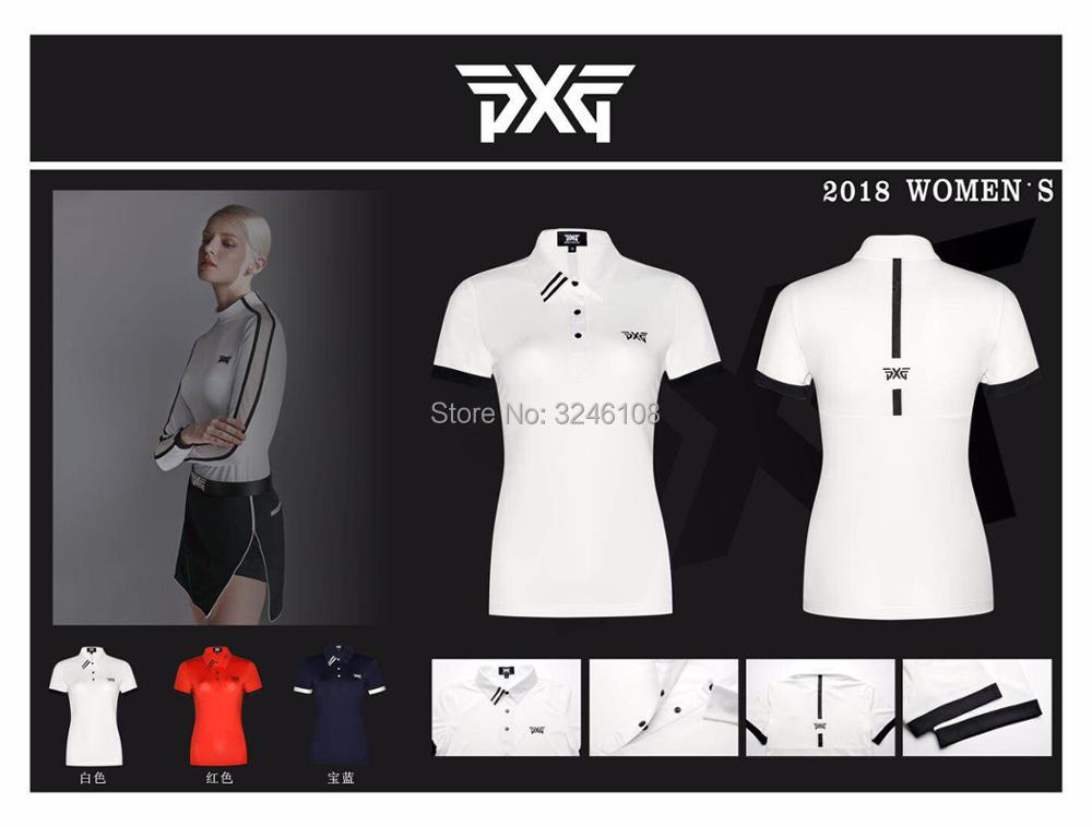 Women PXG Golf T-shirt Sportswear Short sleeve Golf T-shirt 4colors Golf clothes S-XL in choice Leisure Golf shirt Free shipping new pxge mens sportswear short sleeve golf t shirt 3 colors golf clothes s xxl men jersey leisure golf shirt tops free shipping