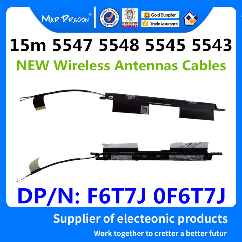 MAD DRAGON Brand Laptop new WiFi Wireless Antennas For Dell Inspiron 15m 5547 5548 5545 5543 F6T7J 0F6T7J WiFi Cable Antennas
