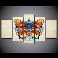 5 Pcs Butterfly Eye Canvas HD Printed Poster Frame Painting Modular Wall Art Pictures Living Room Cuadros Decoracion