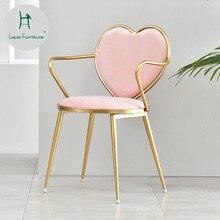 Луи Мода Ресторан Кофейня молоко чай Досуг стул чистая красная современная простая форма сердца косметика