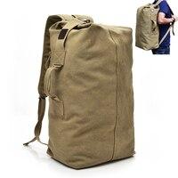 Men's Military Canvas Backpacks Multi purpose Bucket Travel Bag Large Shoulder Bags Men Army Tourist Foldable Hand Bag 2019 fash