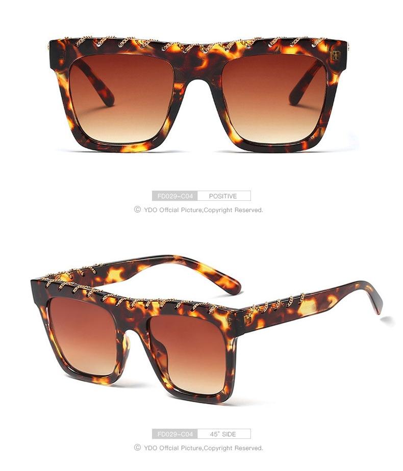 YDO Big Size Sunglasses Women 2019 Square Sunglasses Luxury Brand Vintage Sunglasses  Oversized Sun Glasses Fashion Shades UV400 (10)