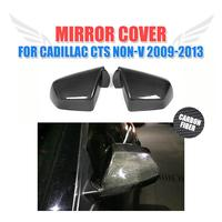 Carbon fiber car side mirror covers for Cadillac CTS Non V 2009 2013 Rearview mirror caps 2PCS/Set