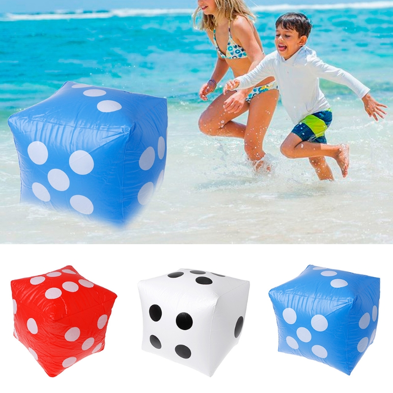 PVC 40cm Giant Inflatable Dice Beach Garden Party Game Outdoor Children Kid Toy Stage Prop Group Game Tool-m22