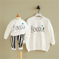 Matching Mother Daughter Clothes New Autumn Cartoon Family Look Girl Clothes Outfits Mom And Daughter Sweatshirt