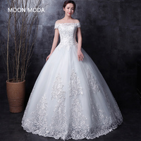 Long Half Sleeve Muslim Lace Wedding Dress High Quality 2016 Bride Simple Bridal Gown Real Photo