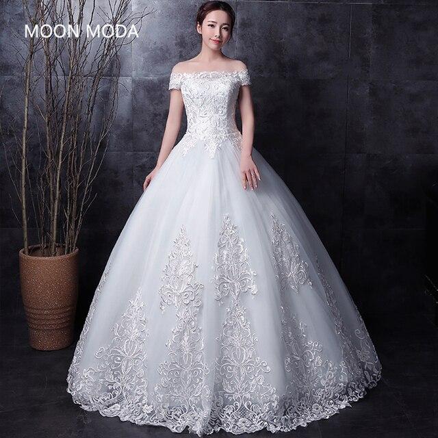 Meia Manga Comprida Muçulmano Lace Vestido De Noiva Alta Qualidade 2019 Weddingdress Simples Foto Real