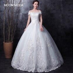 Meia manga longa vestido de casamento de renda muçulmana alta qualidade 2019 noiva simples vestido de noiva foto real weddingdress