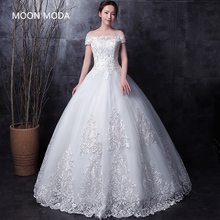 long half sleeve muslim lace wedding dress high quality 2018 bride simple bridal gown real photo wedding-dress vestido de noiva(China)