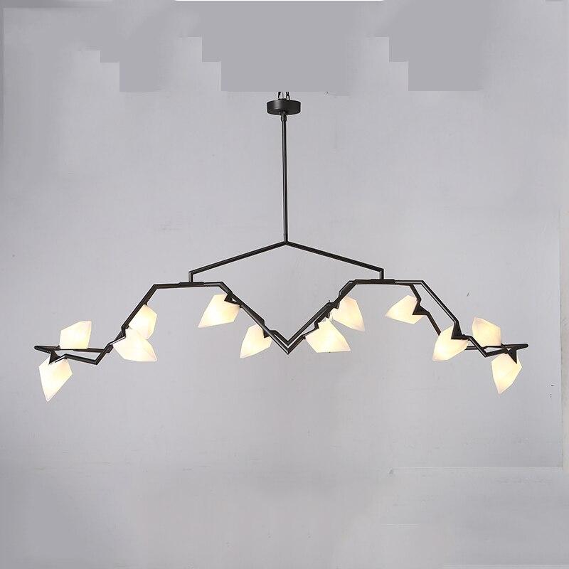 Post moderne potentiel LED branche nouveauté lumière lustre lumière classique graine design avec ampoule LED verre abat-jour suspension