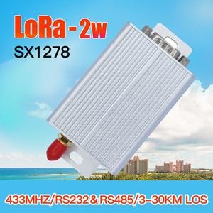 Image 1 - 2 w 433 mhz lora sx1278 rf 송신기 수신기 무선 rf 모듈 rs232 rs485 lora uart 모뎀 장거리 450 mhz rf 송수신기