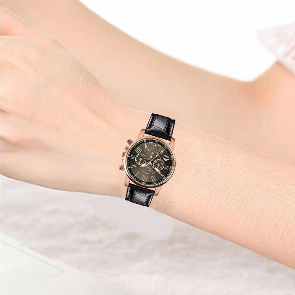 2019 nuevos relojes de moda para mujer reloj deportivo para mujer reloj de pulsera de cuero femenino zegarki damskie cuarzo reloj de pulsera analógico