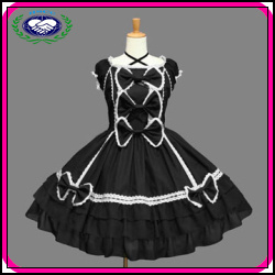 Simple Fashion Design OEM Girls Lolita Cosplay Dress Costume Party Gothic Clothing