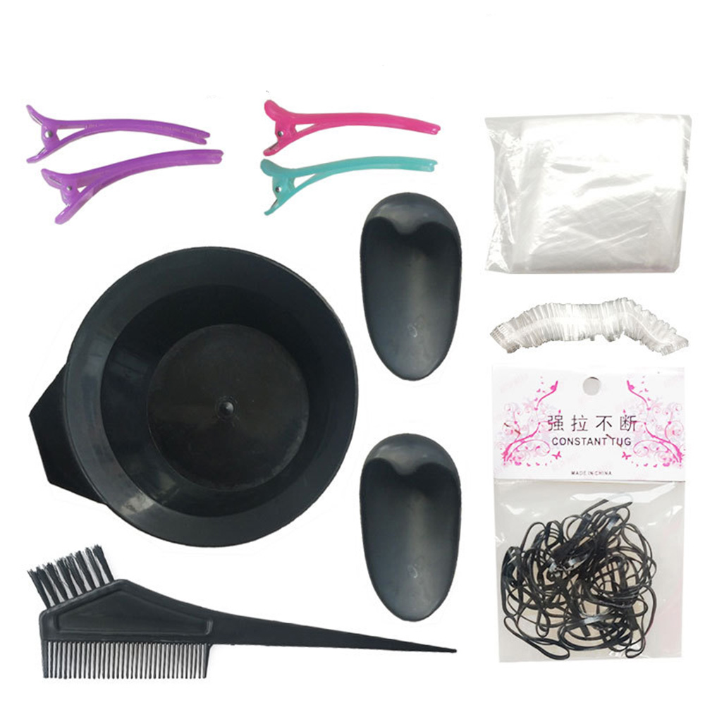 8 Pieces/Set  Hair Dyeing Tools Plastic Dyeing Bowl Comb Hairdressing Oil Supplies Disposable Hair Dye Supplies