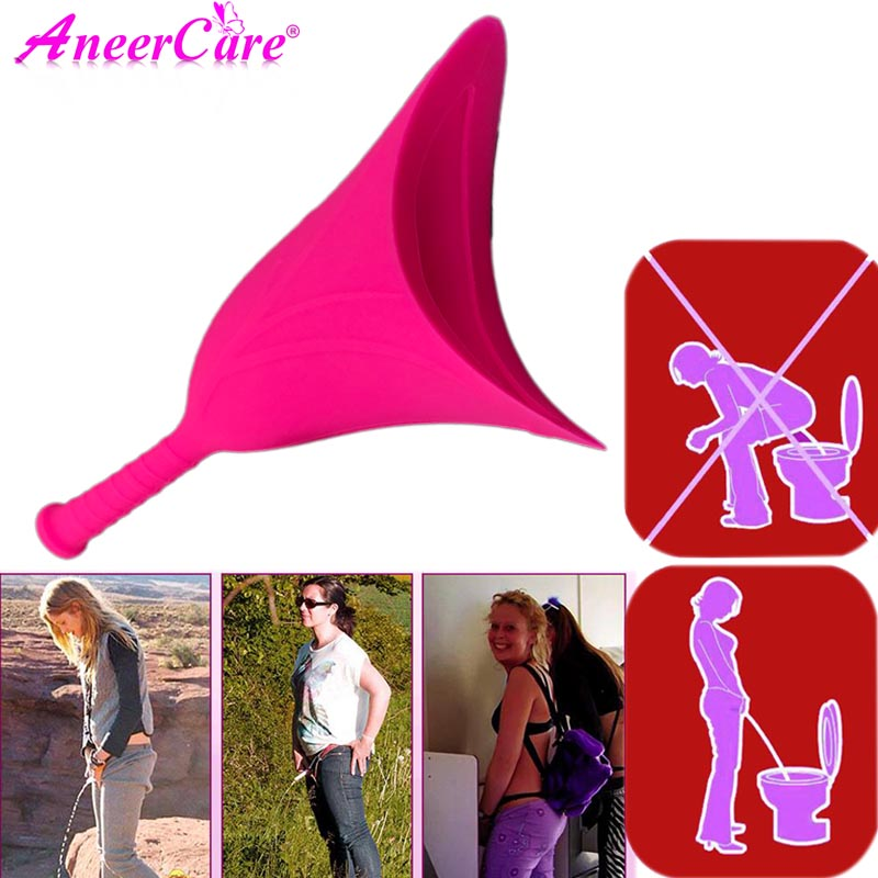Pisse Debout Femme Urine Funnel For Women Urinal Outdoor Travel Camping Portable Urinal Silicone Urination Device