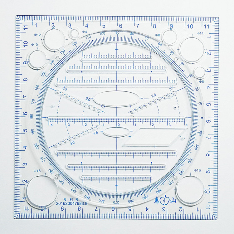 A New Multifunctional Drawing Million Ruler Drawing Instrument For Middle School Students Rule Function Parallel Elliptic Templa