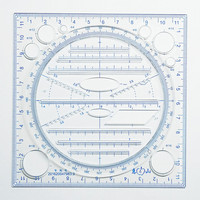 A New Multifunctional Drawing Million ruler Drawing Instrument For Middle School Students Rule Function Parallel Elliptic Templa|Rulers| |  -
