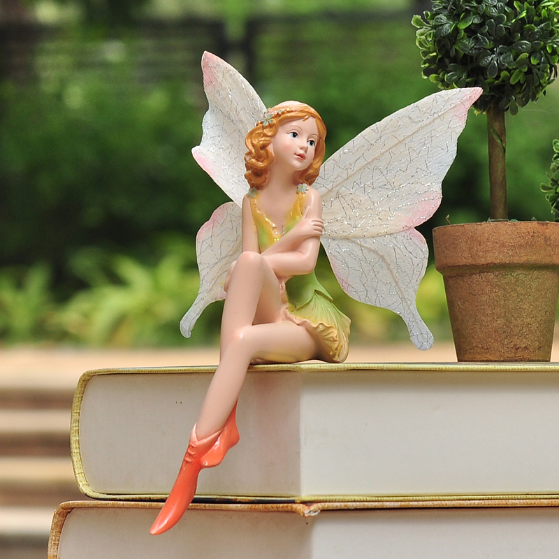 Smallsweet resin pastoral fairy figurines miniatures for Figurine decoration jardin