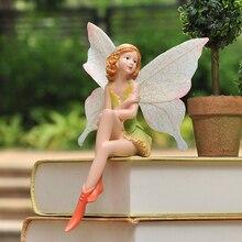 Smallsweet Resin Pastoral Fairy Figurines & Miniatures Home Decoration Accessories Vintage Home Decor Fairy Garden Miniatures